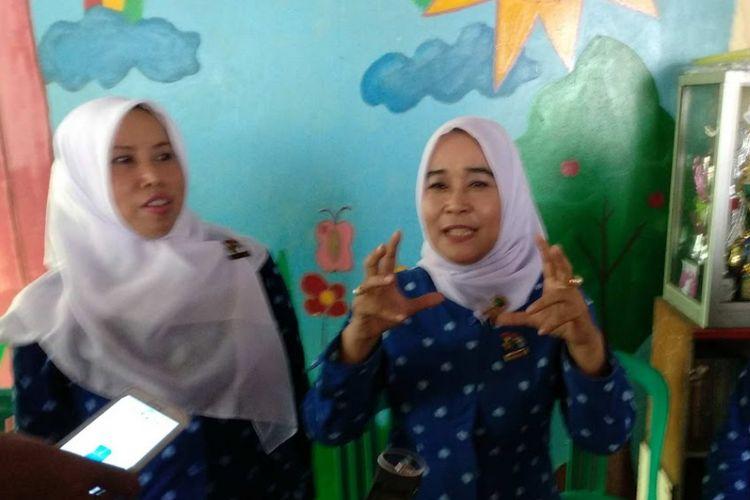 Ketua Himpunan Pendidikan dan Tenaga Kependidikan Anak Usia Dini Indonesia (Himpaudi) DKI Yufi AM Natakusumah di PAUD Matahari, Jalan Patra Kuningan XV, Rabu (7/12/2017).