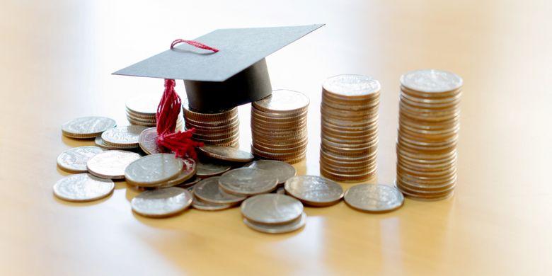Laju kenaikan biaya pendidikan per tahun lebih besar daripada kenaikan gaji orangtua per tahun