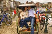 Di Amsterdam, Pemuda Ini Layani Tur Keliling Kota dengan Becak Yogya
