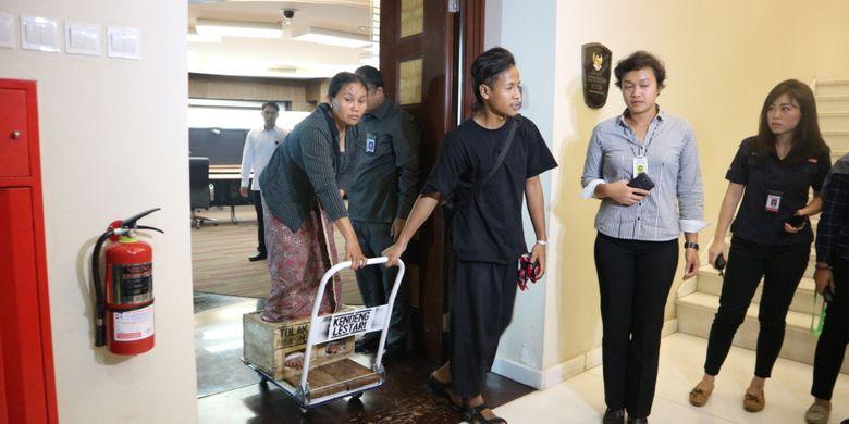 Petani kendeng diterima di Kantor Staf Kepresidenan, Jakarta, Senin (20/3/2017).