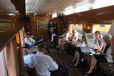 Raja dan Ratu Swedia Naik Kereta Wisata Kepresidenan ke Bandung