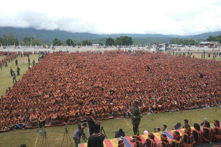Geladi Resik Tari Saman Massal 10001 Gayo, Sabtu (12/8/2017)