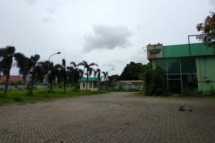 Kondisi lahan yang akan dibangun rumah DP 0 Persen program Gubernur dan Wakil Gubernur DKI Jakarta, Anies - Sandi di Pondok Kelapa, Jakarta Timur, Senin (27/11/2017).  Pembangunan rencananya akan dimulai tahun depan