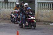 Jumlah Pemudik Sepeda Motor di Kalimalang Mulai Menurun