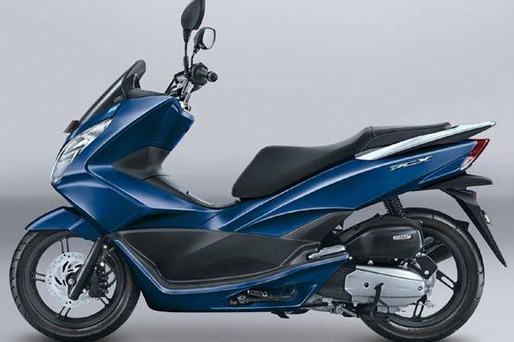 Honda PCX warna baru, exclusive poseidon blue.