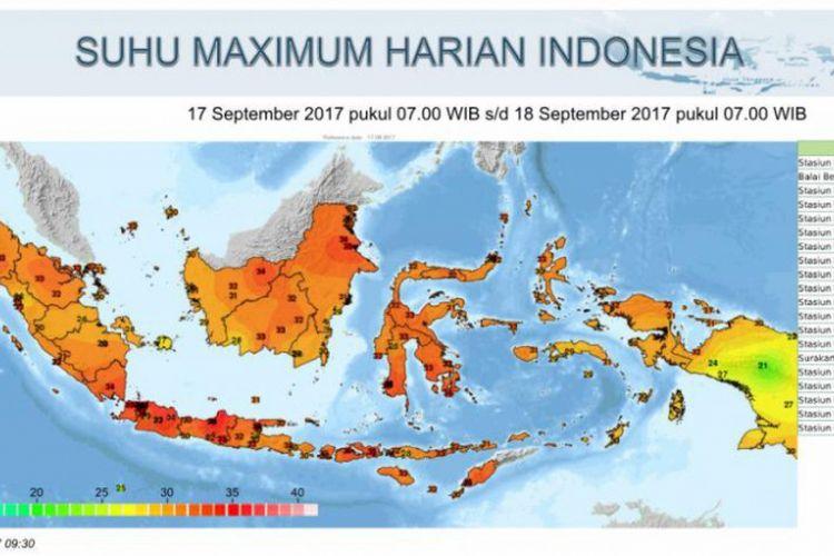 Suhu Maximum Harian Indonesia
