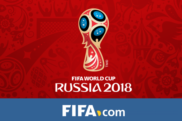 Logo Piala Dunia 2018 yang akan dilangsungkan di Rusia.