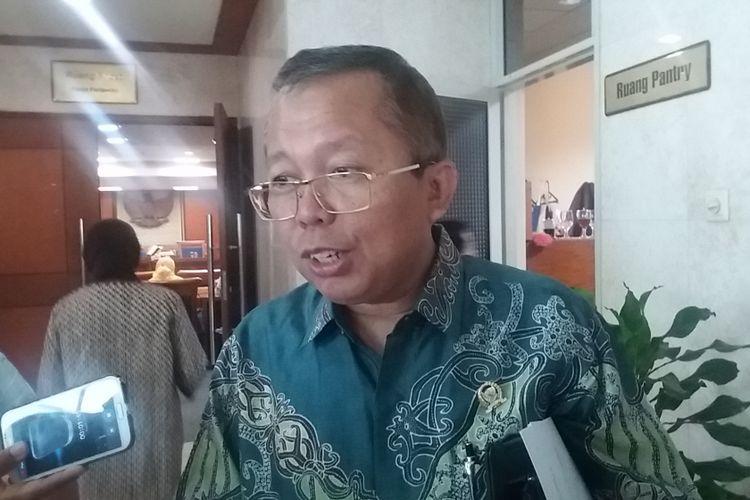 Anggota Komisi III DPR Arsul Sani di Kompleks Parlemen, Senayan, Jakarta, Kamis (13/7/2017).