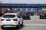 Ruas Tol Jakarta-Cikampek ke Gerbang Tol Cikarang Utama Padat