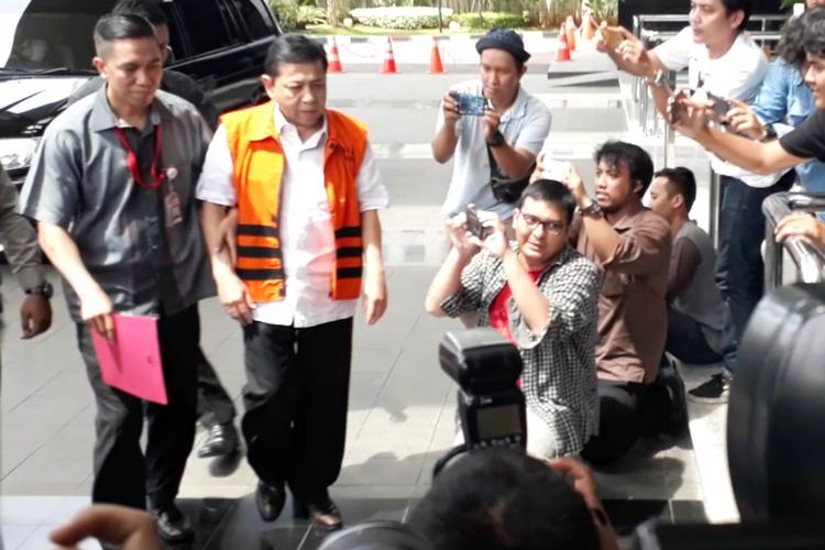 Komisi Pemberantasan Korupsi kembali memeriksa Ketua DPR Setya Novanto terkait kasus e-KTP, Kamis (23/11/2017).