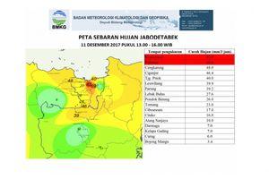 Data BMKG Tunjukkan Ekstremnya Hujan Jakarta Senin Kemarin