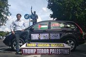 Bawa Peti Mati, Seorang Warga Solo Kecam Donald Trump Terkait Yerusalem