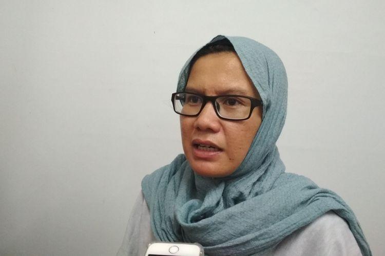 Koordinator KontraS, Yati Andriyani Ketika Ditemui di kantor KontraS, Jakarta Pusat, Selasa (9/5/2017).