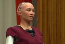 Robot Wanita Ini Ikut dan Berbicara di Rapat PBB