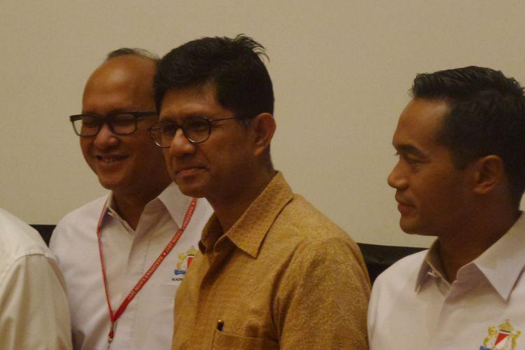 Wakil Ketua KPK Laode Muhammad Syarief di Hotel Ritz Carlton Jakarta, Selasa  (3/10/2017).