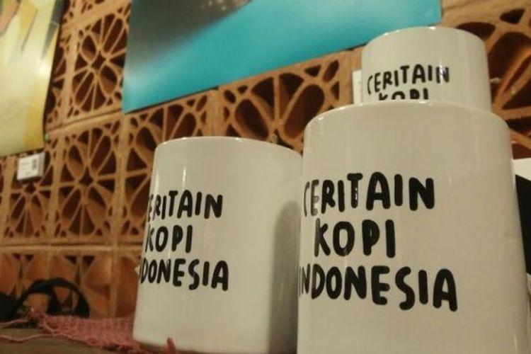 Salah satu merchandise Ceritain Kopi Indonesia di Alun-Alun Indoenesia, Grand Indonesia, Jakarta.
