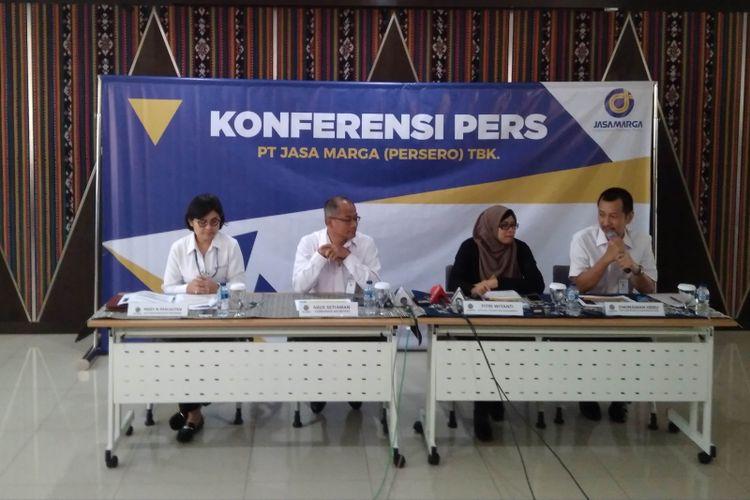 Konferensi pers kenaikkan tarif tol Jasa Marga, Jakarta (6/12/2017)