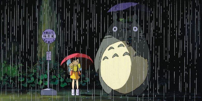 Salah satu adegan dalam film Studio Ghibli, My Neighbor Totoro (1988).