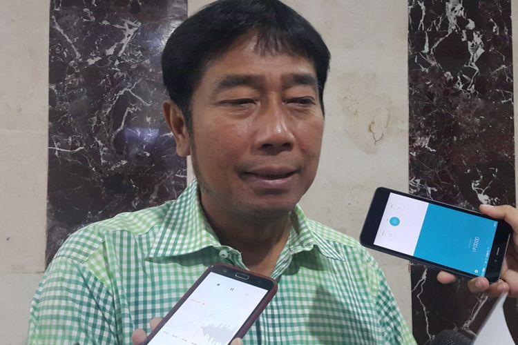 Wakil Ketua DPRD DKI Jakarta Abraham Lulung Lunggana di Gedung DPRD DKI Jakarta, Jalan Kebon Sirih, Kamis (12/10/2017).