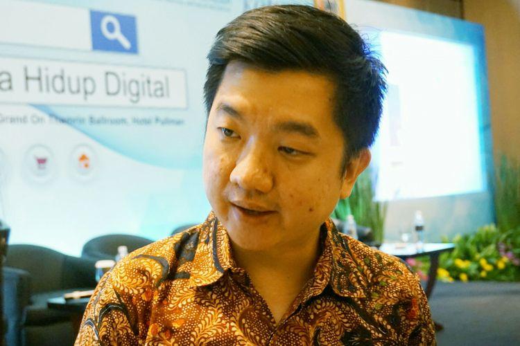 Chief Executive Officer (CEO) Tokopedia William Tanuwijaya saat acara Forum Ekonomi, kerja sama antara Bank Indonesia dan Harian Kompas di Hotel Pullman, Jakarta, Kamis (26/10/2017).