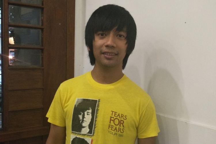 Rian DMasiv usai menjadi pembicara diskusi tentang kebhinnekaan di Ke:kini Ruang Bersama, Cikini, Jakarta Pusat, Senin (13/11/2017).