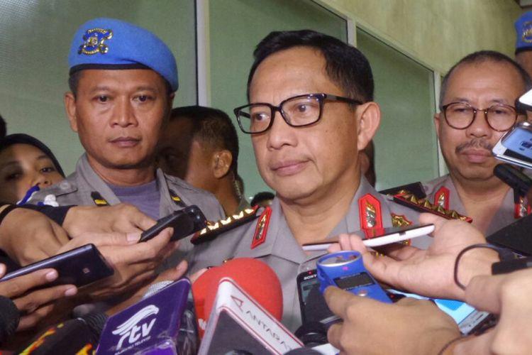 Kapolri Jenderal Pol Tito Karnavian di Kompleks Parlemen, Senayan, Jakarta, Kamis (12/10/2017).