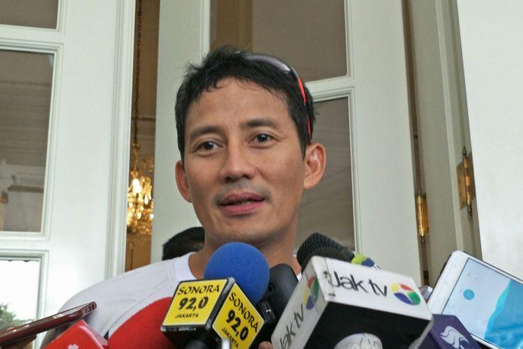 Wakil Gubernur DKI Jakarta Sandiaga Uno di Balai Kota DKI Jakarta, Jalan Medan Merdeka Selatan, Selasa (14/11/2017).