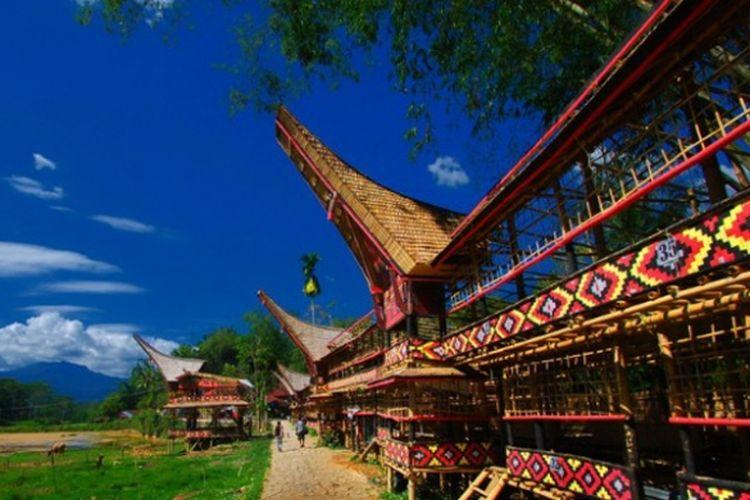 Desa Kete Kesu di Tana Toraja, Sulawesi Selatan.