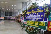 Ulang Tahun Ketua DPD, Gedung DPR Banjir Karangan Bunga