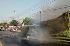 Pecah Ban, Truk Tronton Terbakar di Jalur Pantura