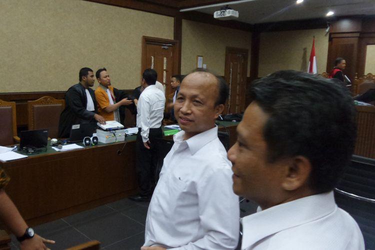 Sekretaris Jenderal Kementerian Desa dan PDTT Anwar Sanusi di Pengadilan Tipikor Jakarta, Rabu (6/9/2017).