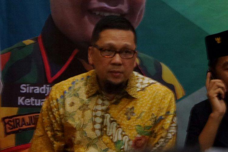 Ketua Generasi Muda Partai Golkar (GMPG), Ahmad Doli Kurnia dalam sebuah acara diskusi di Kantor Kosgoro, Jakarta Selatan, Rabu (22/11/2017).