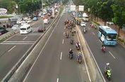 50 Pengendara Sepeda Motor Ditilang karena Melintasi JLNT Casablanca
