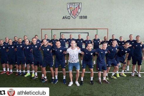 Pemain Athletic Bilbao Gunduli Rambut demi Rekan Setim