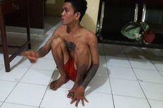 Palak Pengunjung Alun-alun, Preman Ini Menangis di Kantor Polisi