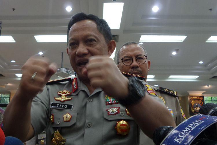 Kapolri Jenderal Pol Tito Karnavian di Rupatama Mabes Polri, Jakarta, Rabu (29/11/2017).