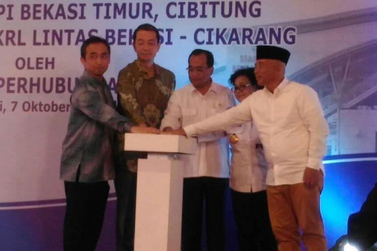 Peresmian pengoperasian Stasiun Bekasi Timur dan pengoperasian KRL Lintas Bekasi-Cikarang.