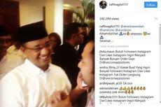 Suara Unggul, Anies Baswedan Jabat Tangan Raffi Ahmad