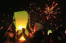 3.500 Lampion Diterbangkan ke Langit Dieng