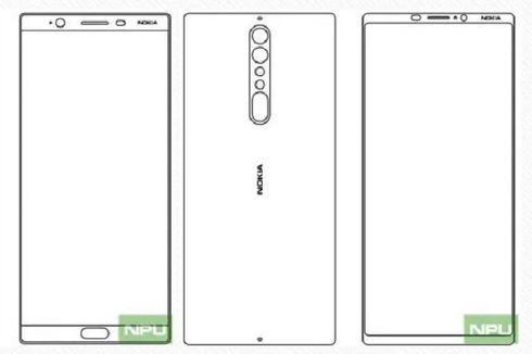 Seperti Galaxy S8, Nokia 9 Usung Desain Bingkai Tipis?