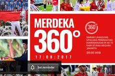 Akun YouTube Jokowi Siarkan Upacara 17 Agustus dalam Video 360
