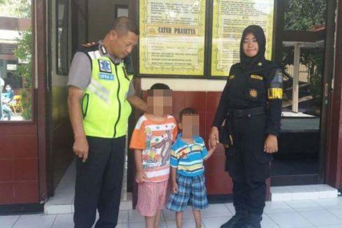 Dua Bocah yang Diduga Dibuang Ibunya Dijemput Sang Ayah