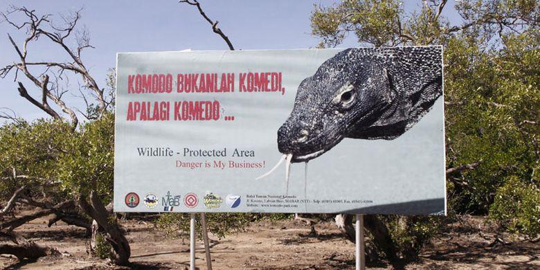 Taman Nasional Komodo di Resort Loh Buaya, Pulau Rinca, Kabupaten Manggarai Barat, Nusa Tenggara Timur, Sabtu (10/5/2014).