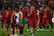 Tangis Totti Saat Bacakan Surat Perpisahan di Hadapan Publik Olimpico