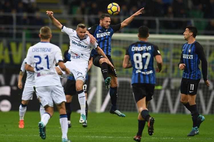 Inter Milan menjamu Atalanta pada pekan ke-13 Serie di Stadion Giuseppe Meazza, Minggu (19/11/2017).