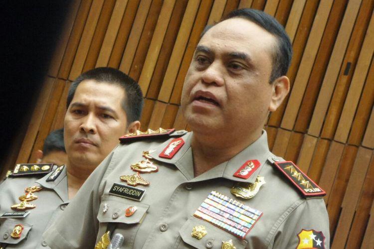 Wakapolri Komjen Pol Syafruddin di Kompleks Parlemen, Senayan, Jakarta, Rabu (19/7:2017).