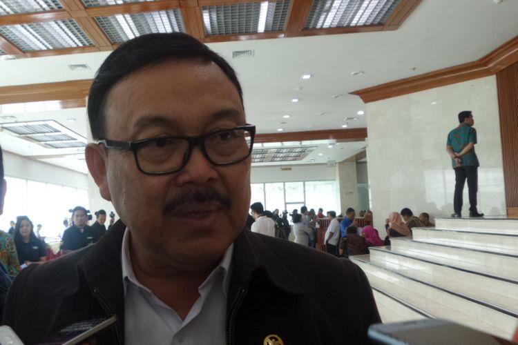 Wakil Ketua Pansus Hak Angket KPK Eddy Kusuma Wijaya di Kompleks Parlemen, Senayan, Jakarta, Rabu (15/11/2017).