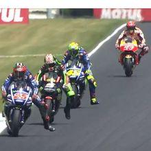 Marquez Kecelakaan, Vinales Pimpin Balapan GP Le Mans [Live]