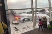 Kebakaran di Landasan Bandara Hong Kong, Api Jilat Lambung Pesawat