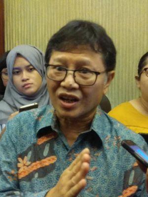 Kepala Riset dan Pengembangan Sumber Daya Manusia, Kementerian Komunikasi dan Informatika (Kominfo), Basuki Yusuf Iskandar, di acara seminar 5G di Jakarta, Selasa (15/8/2017).